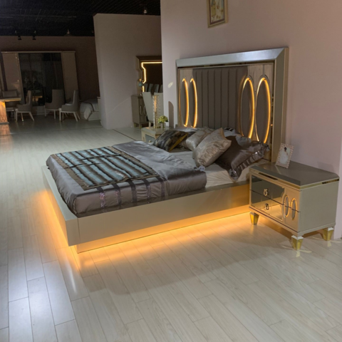 Italian Modern Style Mirrored New Luxury Design King Queen Size Home Furniture Bedroom Set Wholesale Bedroom Sets Products On Tradees Com