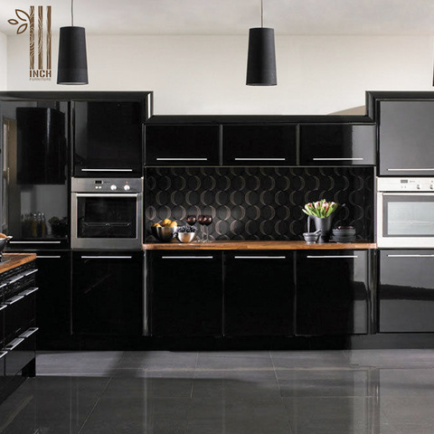 Modern Black High Gloss Lacquer Kitchen Cabinets With Granite Top Wholesale Kitchen Cabinets Accessories Products On Tradees Com
