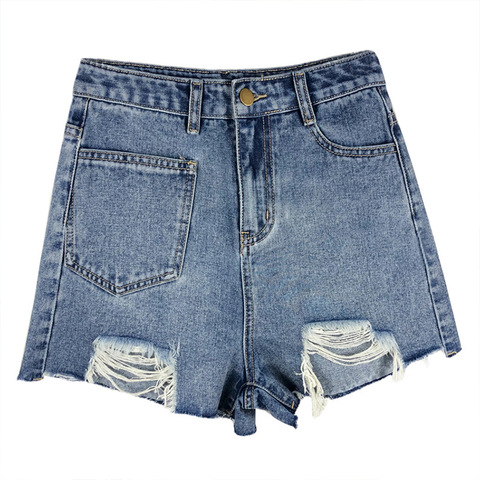 QIBU ladies ripped short jeans womens short jeans pants sex hot short jeans