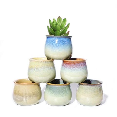 2020 Cheap Mini Bonsai Pot Small Succulent Planter Plant Pots Ceramic For Sale Wholesale Garden Pots Planters Products On Tradees Com