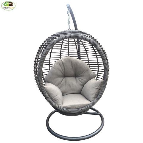 luxury rattan furniture garden chairs patio egg shape wicker hanging chair