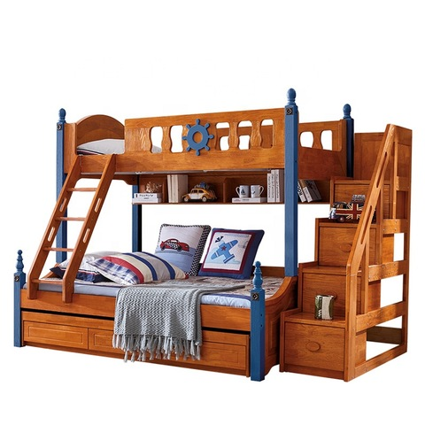 Children Bed Slide Wooden Bunk Bed With Slide For Kids Wholesale Children Beds Products On Tradees Com