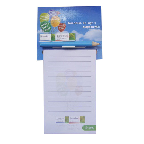 customising printable refrigerator magnet notepad with pen