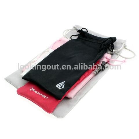 pantone color custom made microfiber phone bag accessory smartphone