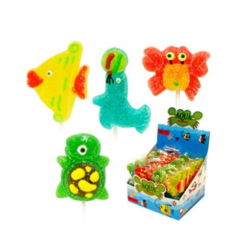 sea creature shape jelly lollipop candy