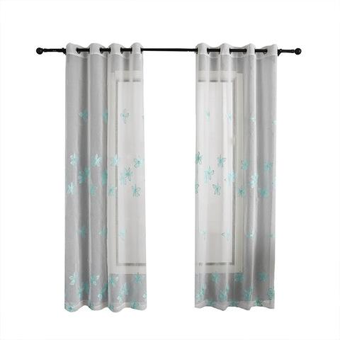 Cortina Bordado Con Arcolla 100% Polyester Curtain Design For Living Room