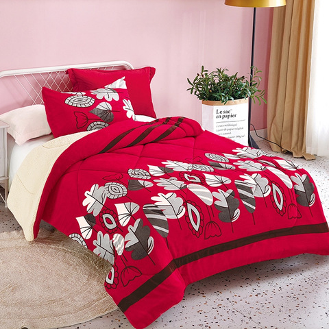 Double layer lambswood blanket Sherpa autumn and winter thickened blanket flannel quilt blanket