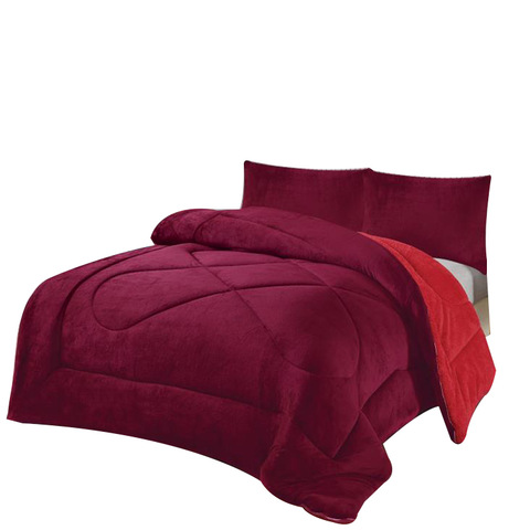 Flannel Fleece Duvet Sherpa Polyester Microfiber Patchwork Edredones Cotton Bed Quilt Cover