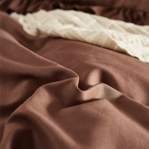 Bedroom simple design dyed solid bed sheet set morden twin size bed set pictures & photos