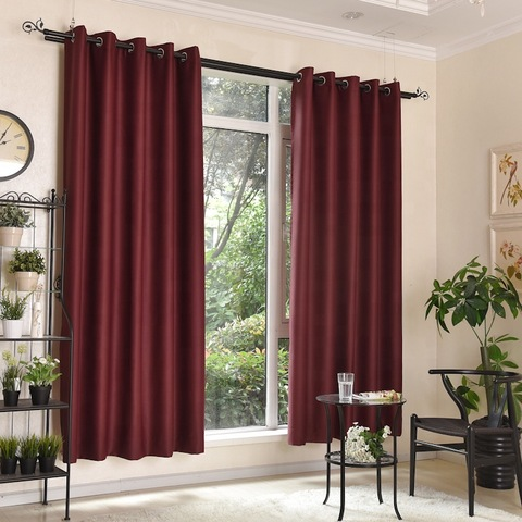 Best products home plain dyed polyester window bedroom luxury curtain pictures & photos