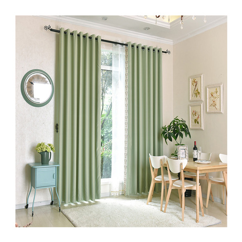 Fashion simple design popular window decoration indoor ready made curtain