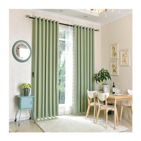 Fashion simple design popular window decoration indoor ready made curtain