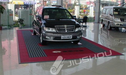 Flexible PVC tile anti-slip interlock rubber garage floor protection mat pictures & photos