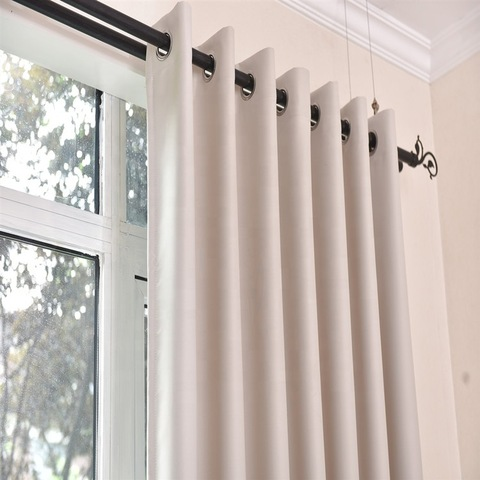 Hot Selling 100%polyester grommet window curatain for room blackout curtain pictures & photos