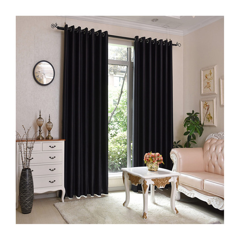 Keqiao manufacturer insulated woven dyed new design wide pure color curtain