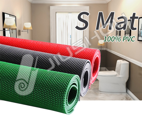 Waterproof S shape anti-slip floor mat mesh carpet roll for swimming pool pictures & photos