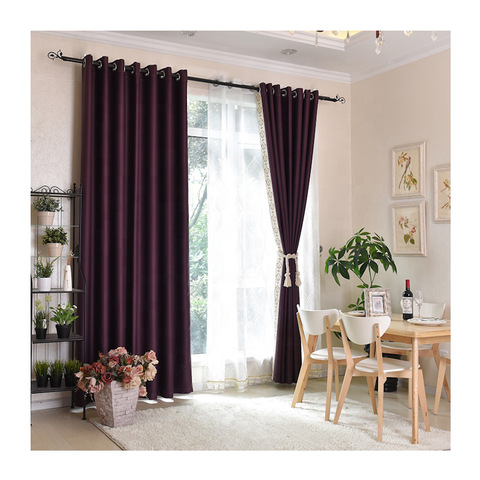 blackout window fabric 100%polyester living room window curtain pictures & photos