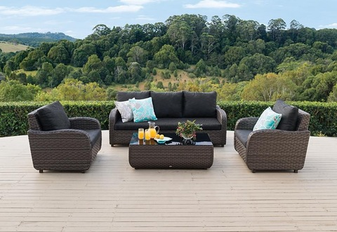 Comfortable Poly Wicker Rattan Outdoor 4 Pieces Sofa Set Furniture pictures & photos