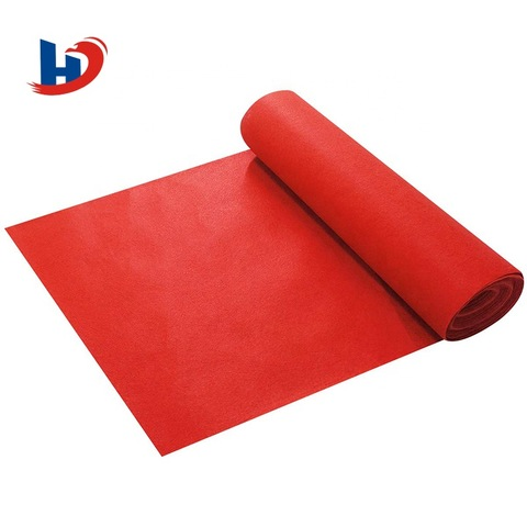 Polyester material needle punched red wedding stage carpet pictures & photos