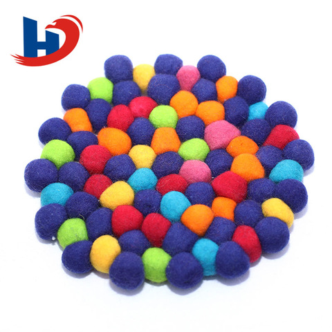 fashion design nepal felt ball backing rugs pictures & photos