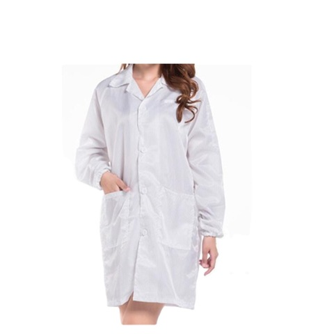Cheap Price Cleanroom esd Garment 5mm strip Gown