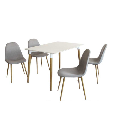 2019Most cheap vintage wooden dining table and fabric dining chairs