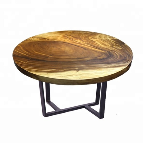 Dining furniture top natural solid walnut round dining table pictures & photos
