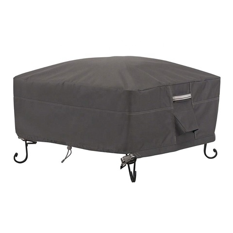 dustproof and waterproof oxford fabric cover for outdoor square fire pit