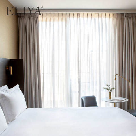 Aluminum Metal Rails And Hook Luxury Window Sheer Hotel Curtain pictures & photos