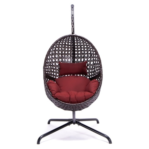 Premium Patio Garden Wicker Hanging Swing Chair Leisure Egg Swing Chair