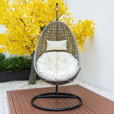 modern outdoor patio swing chair banana shape swing chair hanging swing chair