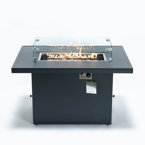 All Aluminum Outdoor Patio Gas Fire Pit Table 55000 BTU