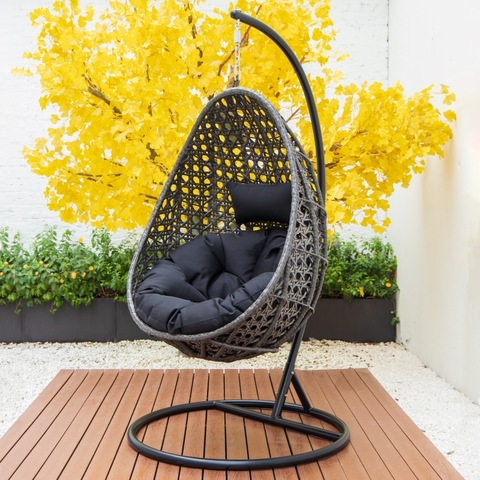 Modern patio swing chair rattan egg shape swing chair hanging swing chair pictures & photos