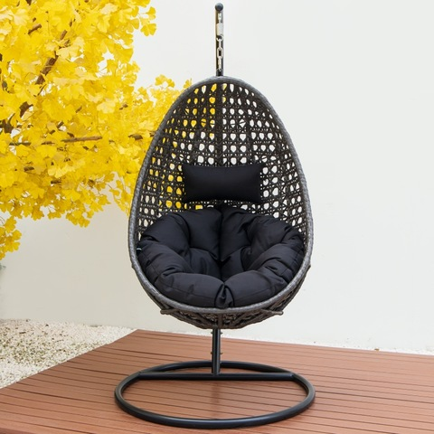 Modern patio swing chair rattan egg shape swing chair hanging swing chair