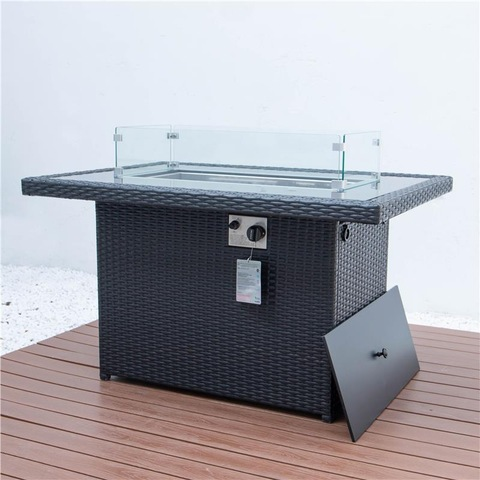 Propane Gas Fire Pit Table 55000 BTU Outdoor Companion Auto-Ignition Fire Table