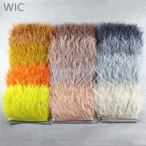 8-10cm Best Price Dyed Ostrich Feather Fringe Trim Lace for Garment Decoration pictures & photos