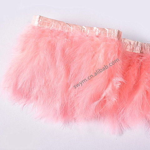 Dyed Marabou Feather Ribbon Trim Turkey Feather Fringe for Garments pictures & photos