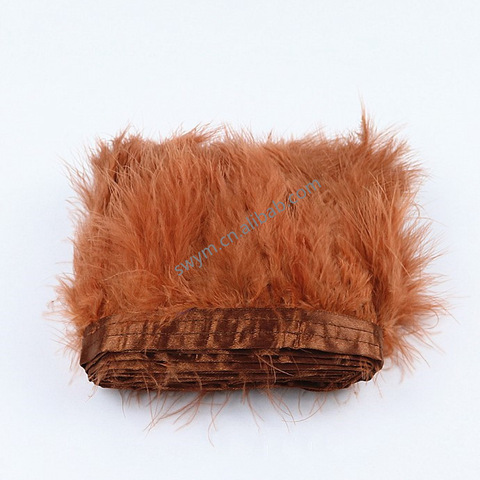 Wholesale Price Dyed Marabou Trimming Turkey Feather Fringe Lace Trim pictures & photos