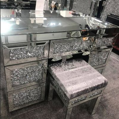 Bedroom Crystal Mirrored Crushed Diamond 3 Drawer Chest of Drawers Sideboard pictures & photos