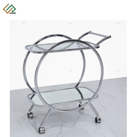 Dining Room Furniture Serving Bar Cart Metal Drink Trolley Cart Silver pictures & photos