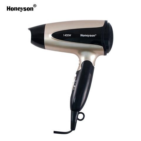 1400W hoeyson hotel guestroom luxury folding hair dryer golden hair dryer pictures & photos