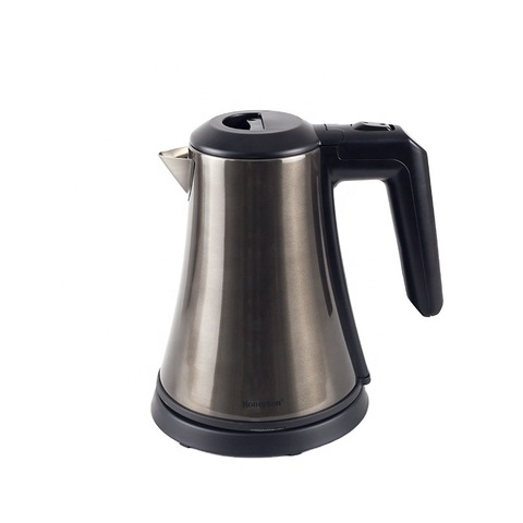 Honeyson hot hotel luxury small low wattage brushed steel kettle hotel amenities