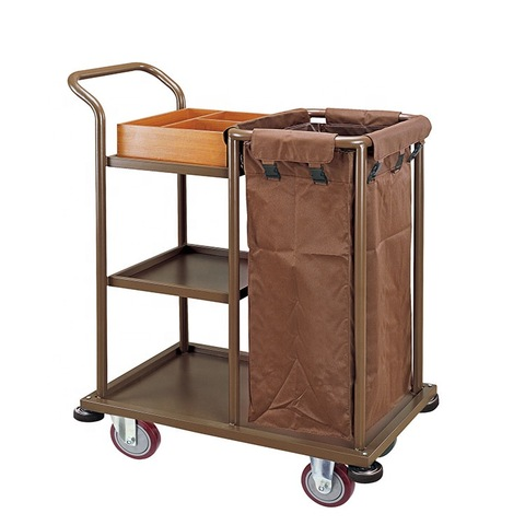 SSCK hotel housekeeping maid cart trolley Small and light cleaning car