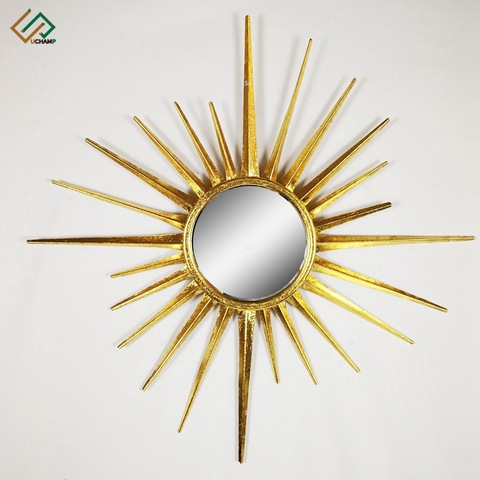Antique Gold Leaf Metal Decorative Round Wall Art Mirror pictures & photos