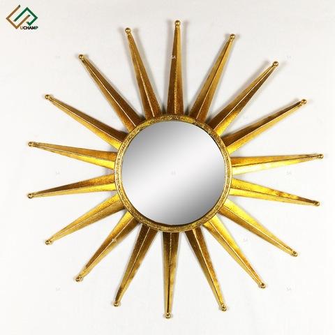 Antique Gold Leaf Sunburst Metal Wall Art Mirror pictures & photos