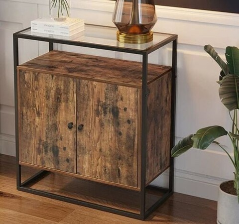 Industrial Style Vintage Storage Cabinet Cupboard Slim Unit Small Sideboard pictures & photos