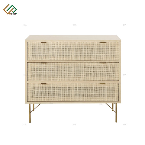 Panel Flat Furniture 3 Rattan Drawer Living Room Storage Cabinet pictures & photos