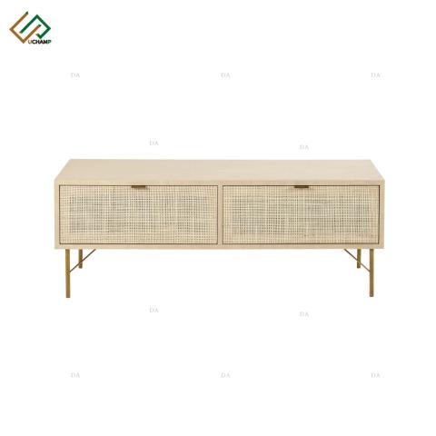 Panel Flat Furniture Metal Leg Rattan Door TV Unit Cabinet pictures & photos