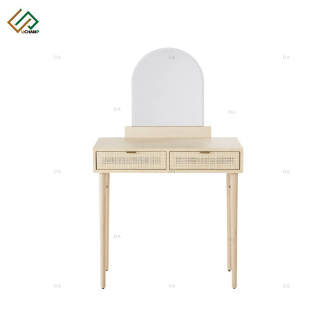 Panel Furniture Wooden Rattan Drawer Bedroom Dresser Set pictures & photos