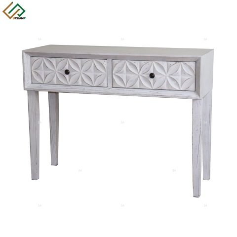 Shabby chic White 3 Door Vintage Wooden Sideboard pictures & photos